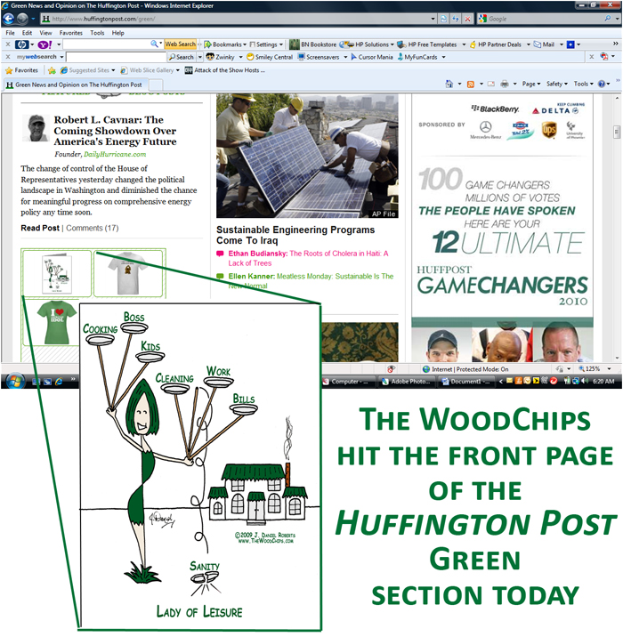 The WoodChips On Huffington Posts Front Page Green Section Today