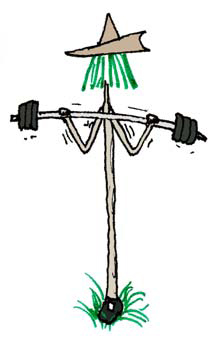 A Pilgrim Tree lifting weights practicing his freedom to exercise