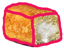 Here are some Twinkie like cakes with pink icing