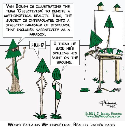 "Woody explains ""Mythopoetical Reality"" rather badly"