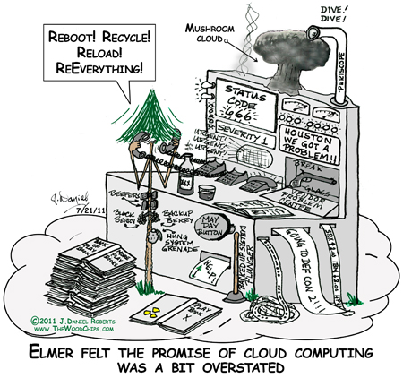 Elmer felt the promise of cloud computing was a bit understated