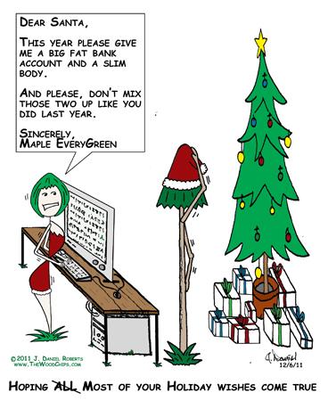 Dear Santa, Please give ma a big fat bank account and a ...