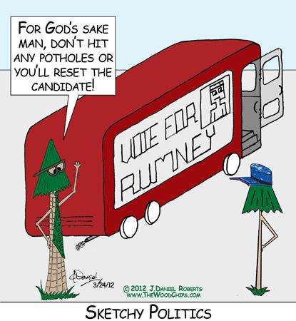 The Etch-A-Sketch Mitt Romney political campaign bus