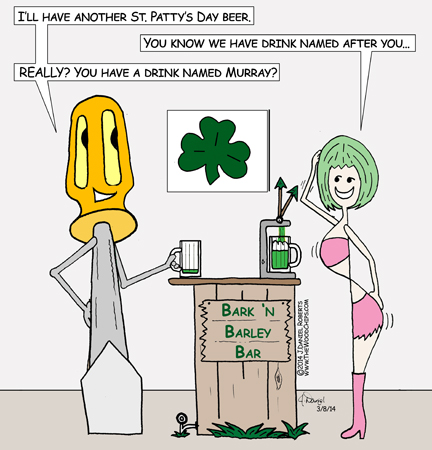 There's a little confusion over names on St. Patty's Day at the Bark 'n Barley Bar.
