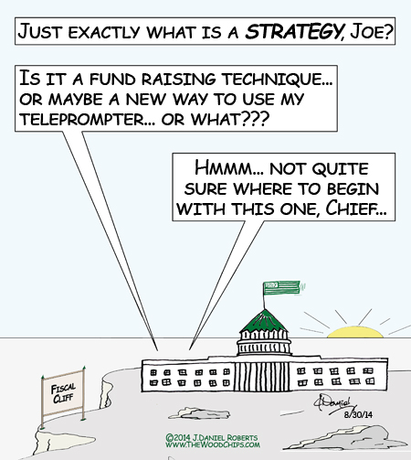 President Obama seems a bit confused about what a strategy is...