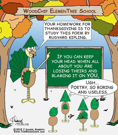 Is this Thanksgiving poetry assignment really useless? Rudyard Kipling might not think so.